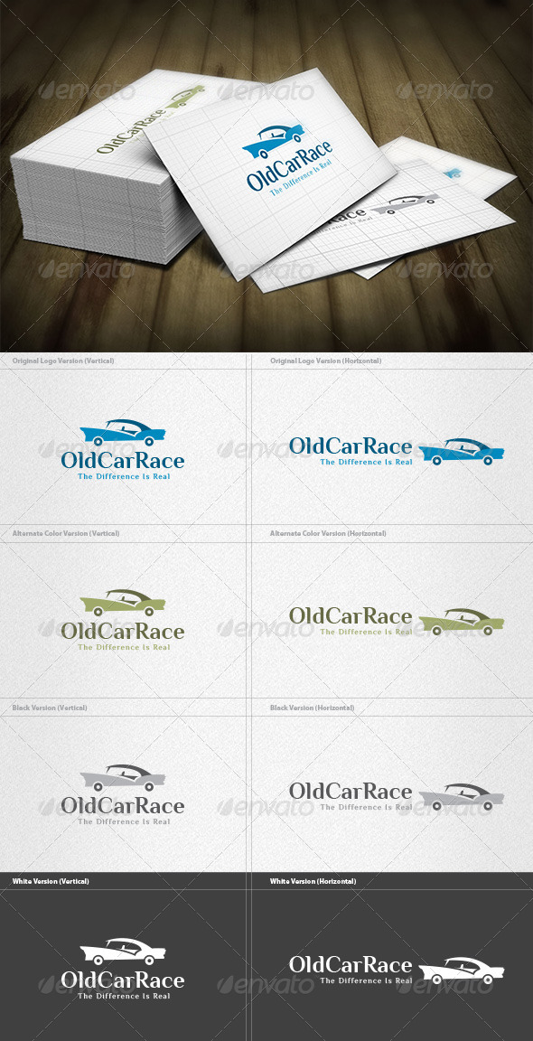 GraphicRiver Old Car Race Logo 4599877