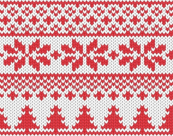 GraphicRiver Christmas Knitted Background 4854763
