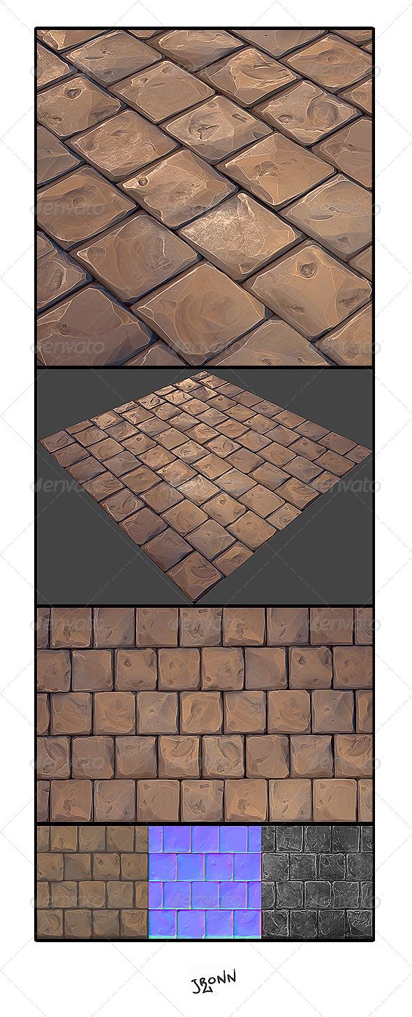 3DOcean Stone Floor 01 4854785