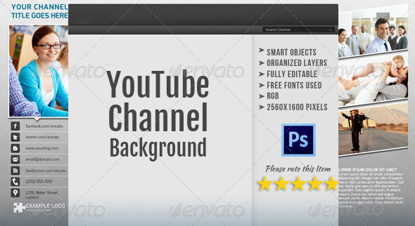 GraphicRiver Corporate YouTube Channel Background Template 4854877