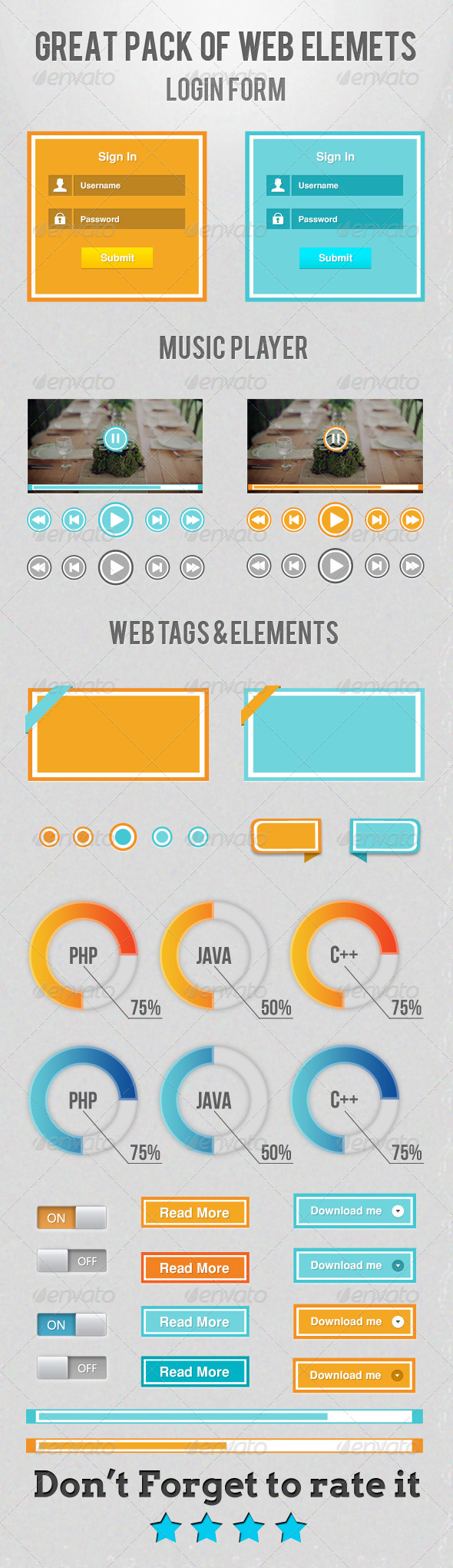 GraphicRiver Great Pack Of Web Elements 4836547