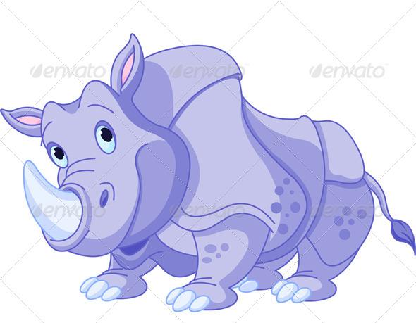 GraphicRiver Cartoon Rhino 4854884