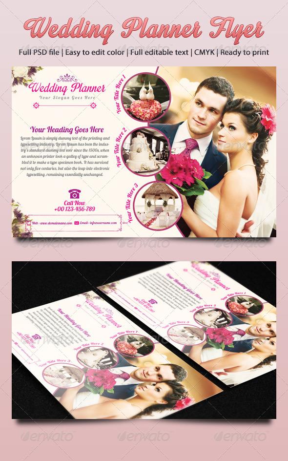 GraphicRiver Wedding Planner Flyer 4855093