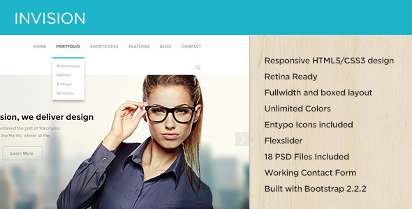 ThemeForest INVISION Corporate Site Template 4855320