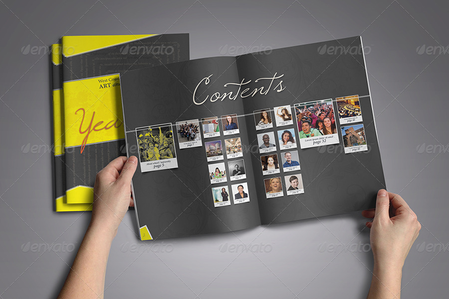 modern yearbook template by zheksha graphicriver. Black Bedroom Furniture Sets. Home Design Ideas