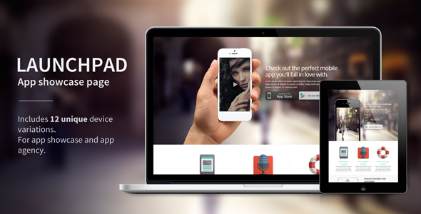 ThemeForest Launchpad Responsive App Landing Page 4848196