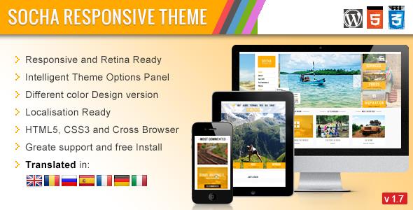 Socha v1.2 | ThemeForest Responsive WordPress Theme