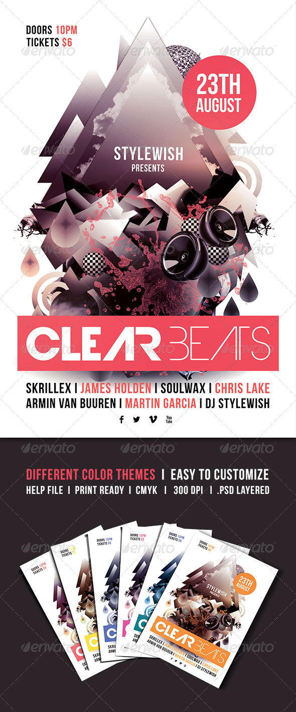 GraphicRiver Clear Beats Flyer 4855469