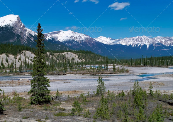 Rockies Mountains - Stock Photo - Images