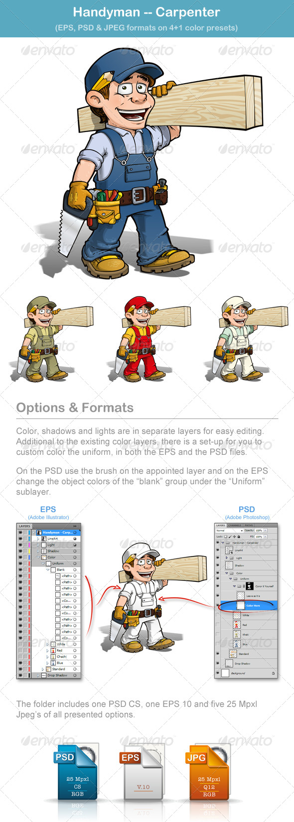 GraphicRiver Handyman Carpenter 4855846