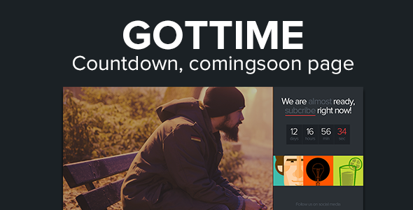 Got Time - Responsive HTML5 Coming Soon Page