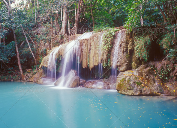Jungle waterfall - Stock Photo - Images
