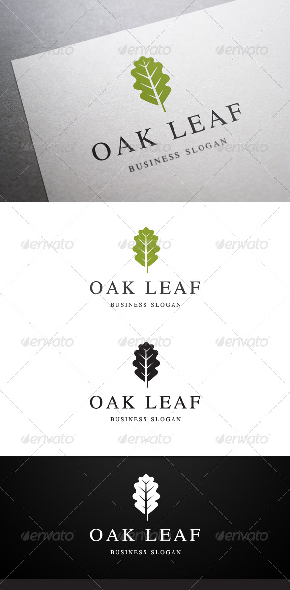GraphicRiver Oak Leaf Logo 4856393