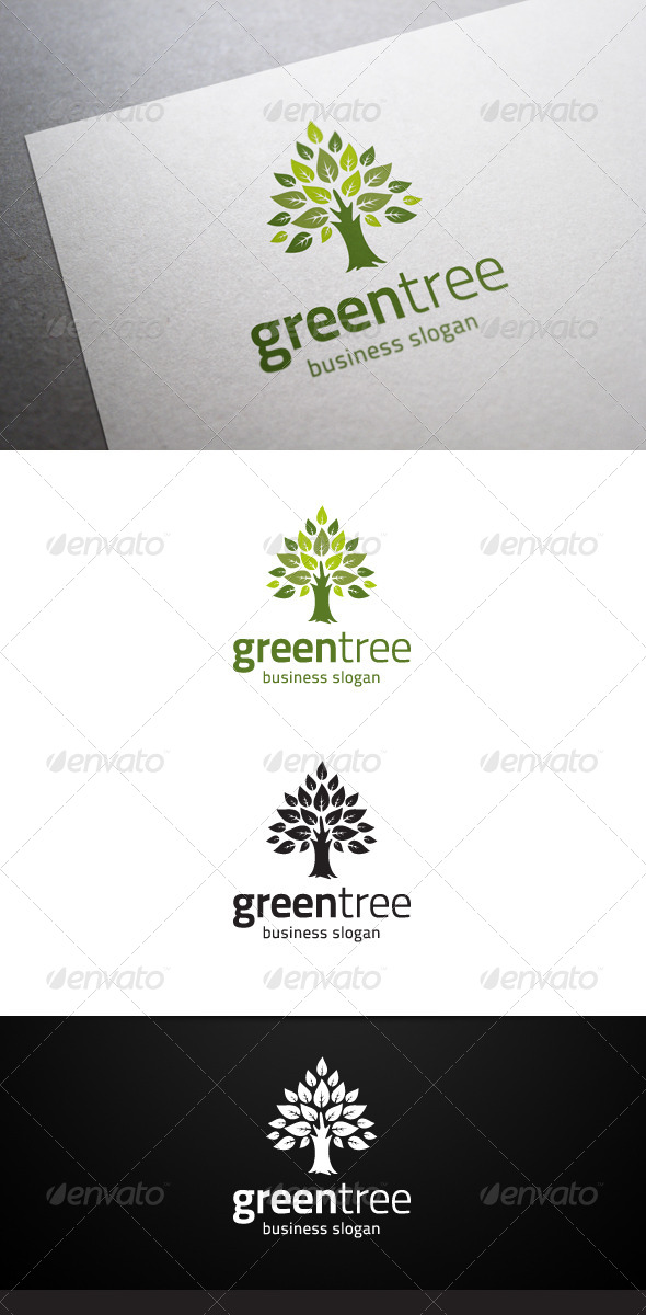 GraphicRiver Green Tree Logo 4856679