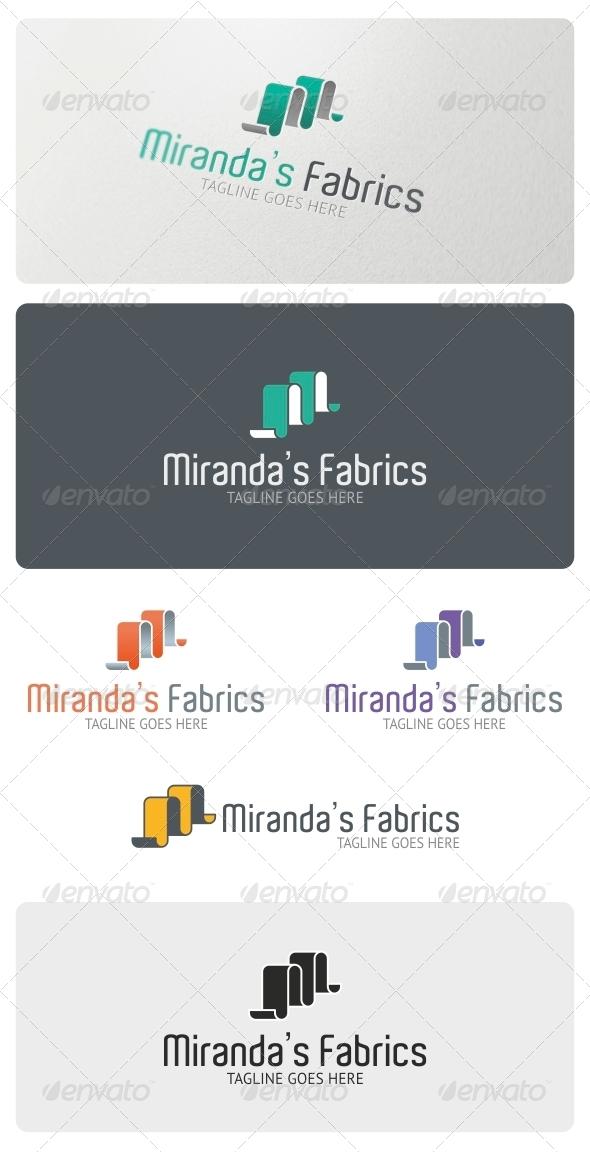 GraphicRiver Miranda s Fabrics Logo Template 4857935