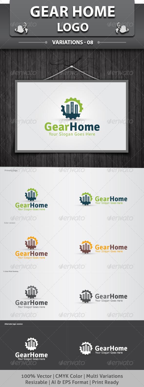GraphicRiver Gear Home Logo 4858060
