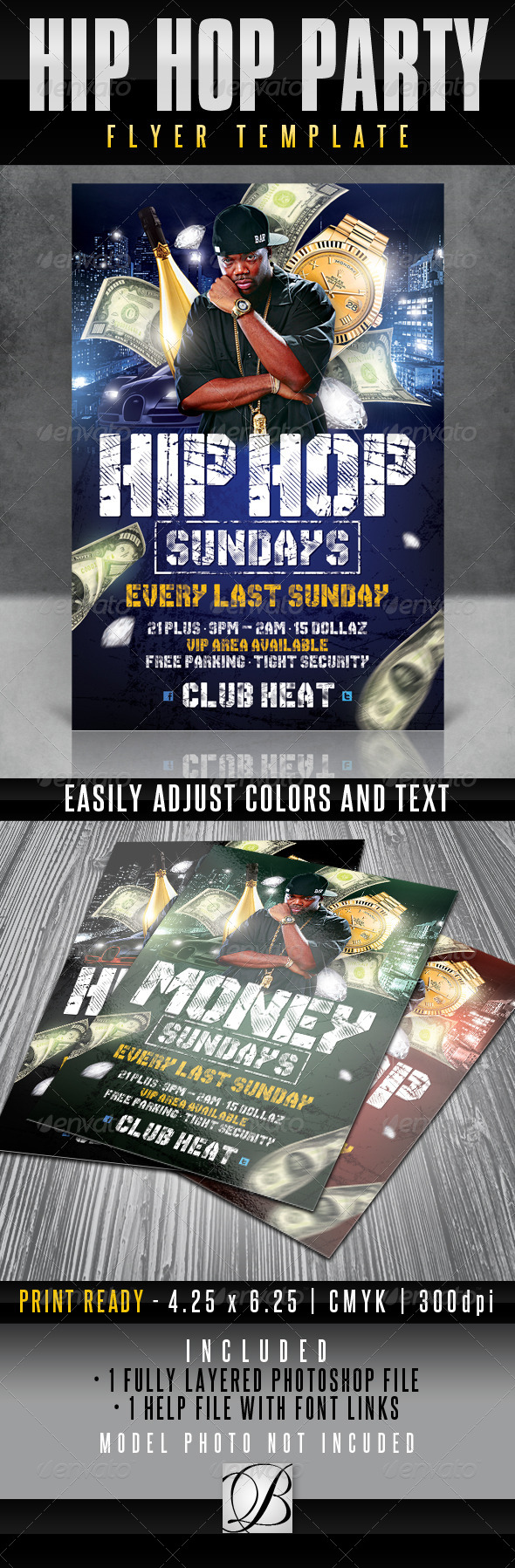GraphicRiver Hip Hop Party Flyer Template 4781648