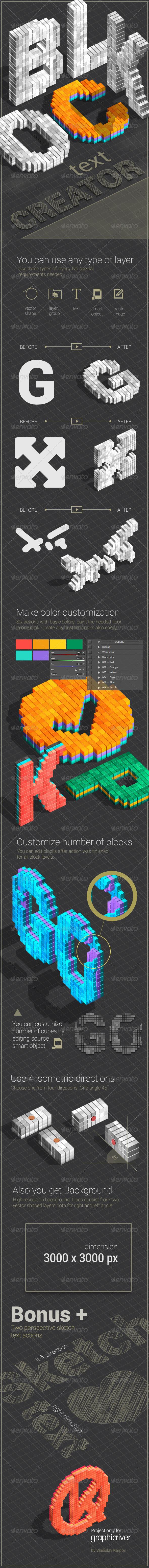 GraphicRiver Blocks Text Creator 4858368