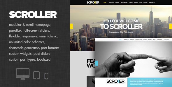 ThemeForest Scroller Parallax Scroll & Responsive Theme 4858606