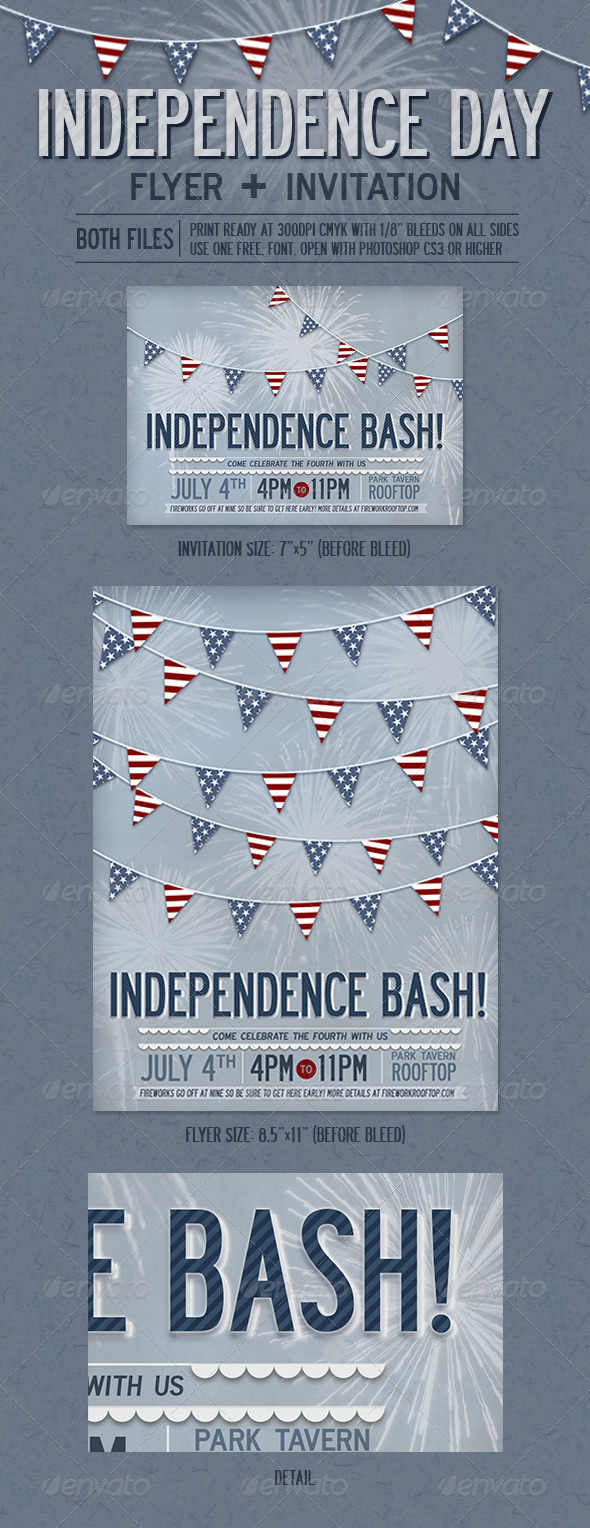 GraphicRiver Independence Day Flyer & Invitation 4859365