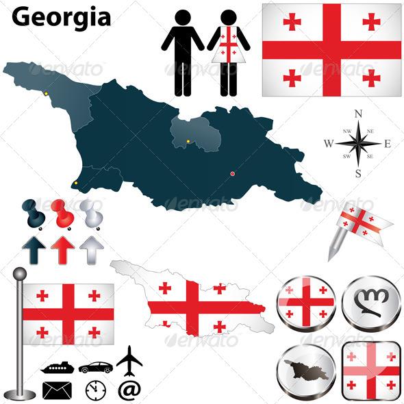 GraphicRiver Map of Georgia 4859382
