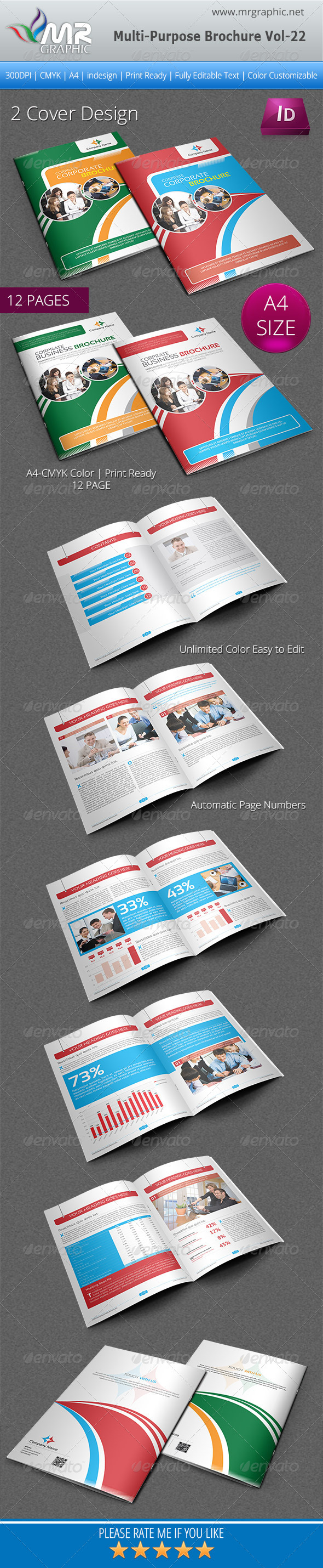 Multipurpose Business Brochure Template Vol-22 - Corporate Brochures