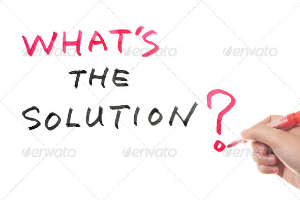 What's the solution? - Stock Photo - Images