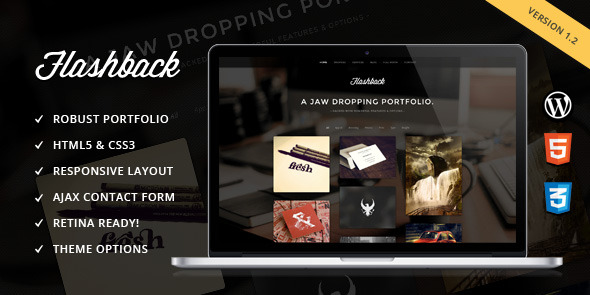 Flashback - A Jaw Dropping Portfolio WP Theme