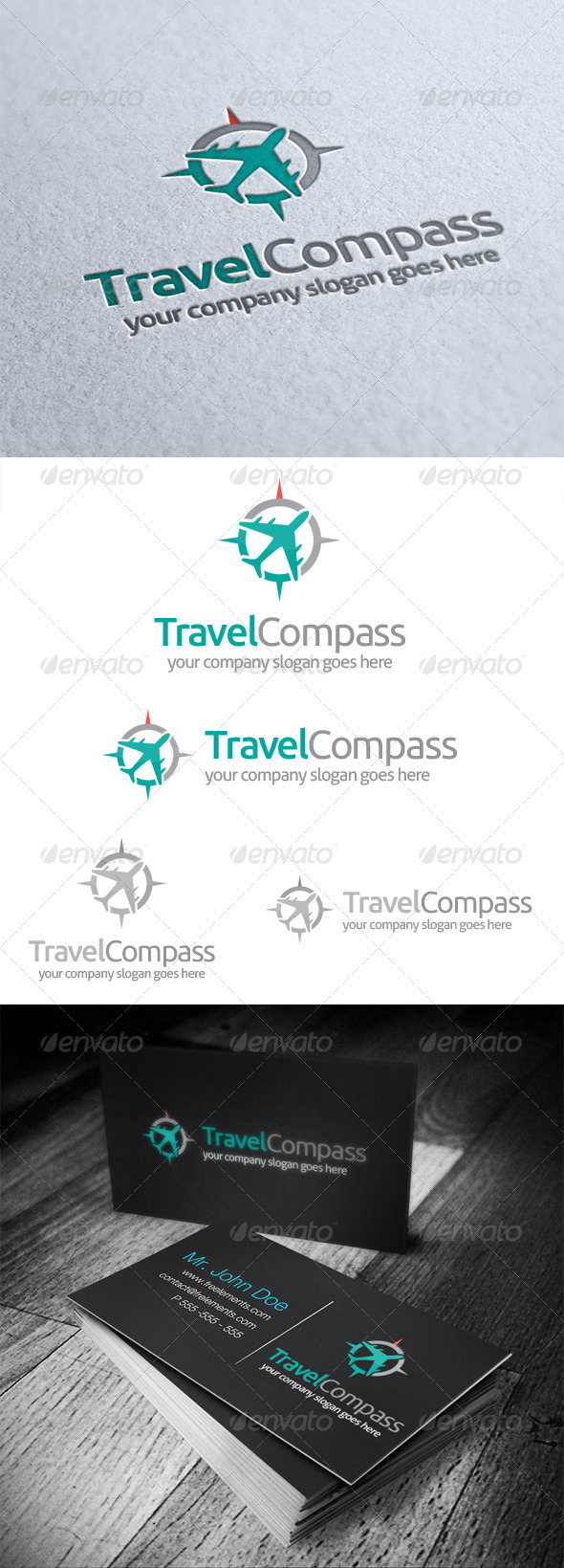 GraphicRiver Travel Compass Logo 4860284