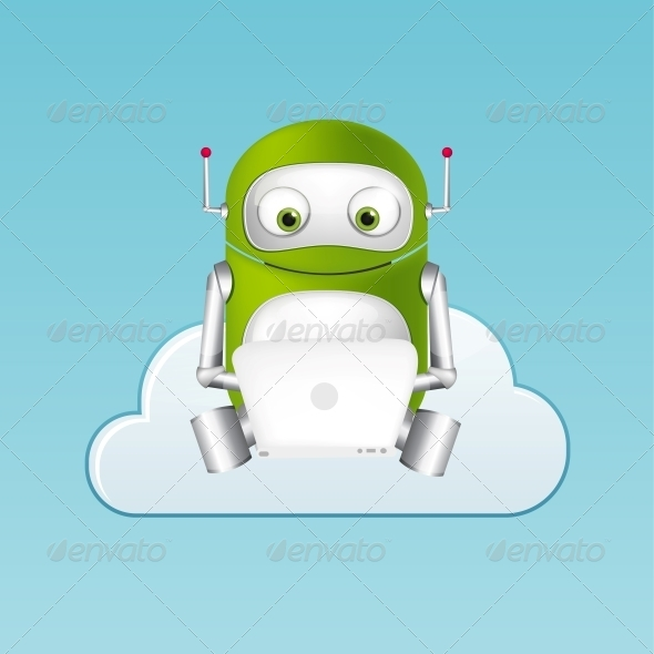 GraphicRiver Green Robot 4860331