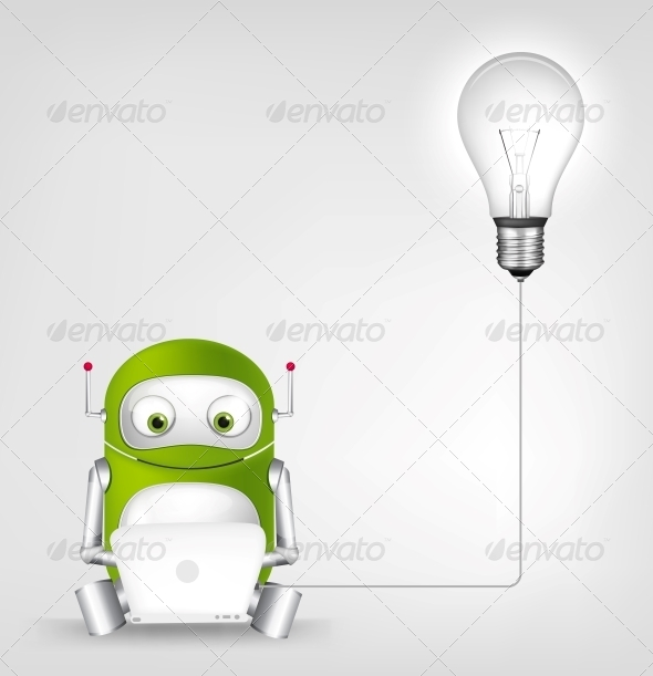GraphicRiver Green Robot 4860334