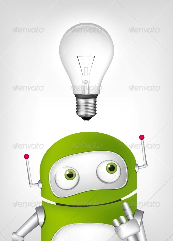 GraphicRiver Green Robot 4860354