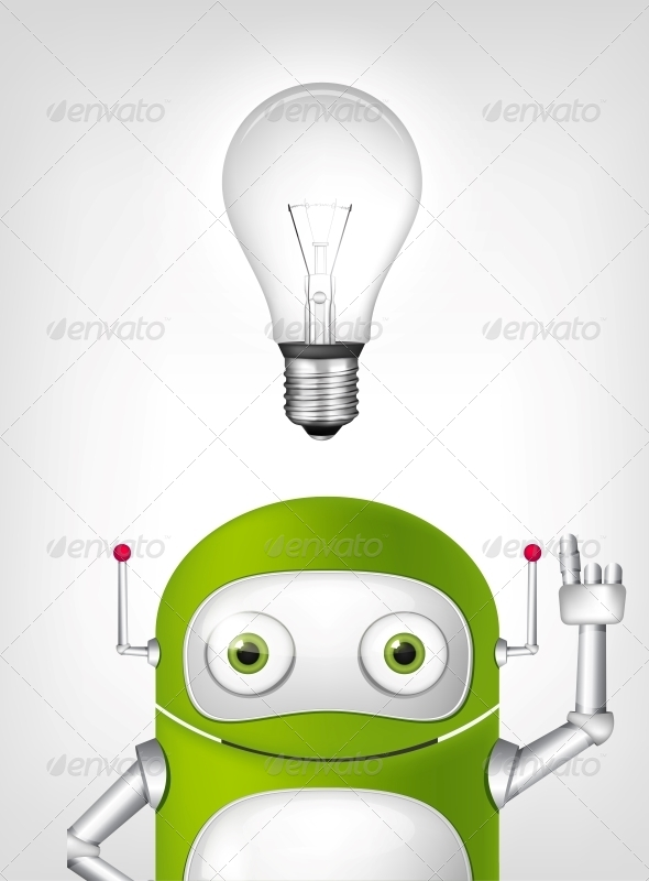 GraphicRiver Green Robot 4860362