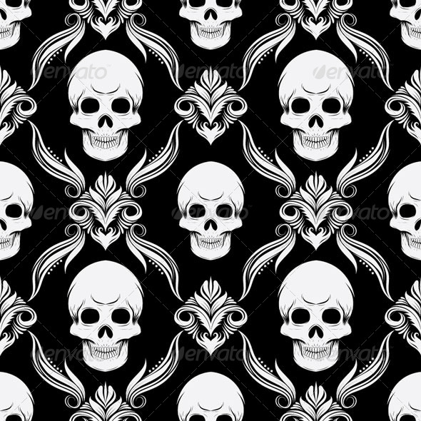 Skull Pattern - Patterns Decorative