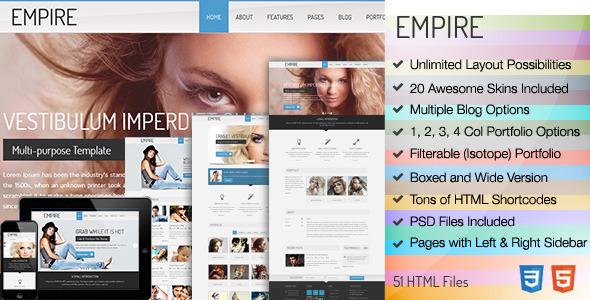 ThemeForest Empire Business Portfolio HTML 5 Template 4860464