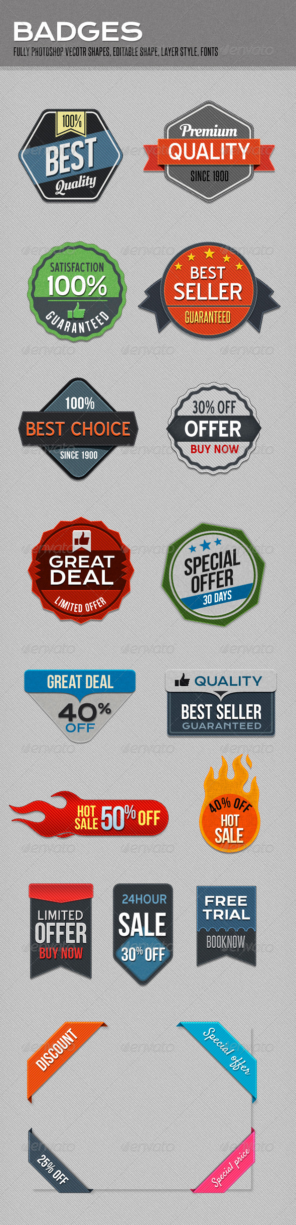 Badges - Badges & Stickers Web Elements