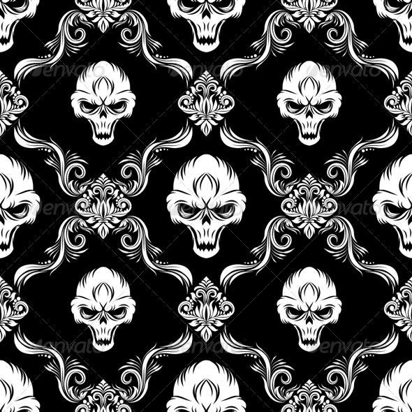 GraphicRiver Skull Decorative Pattern 4860707