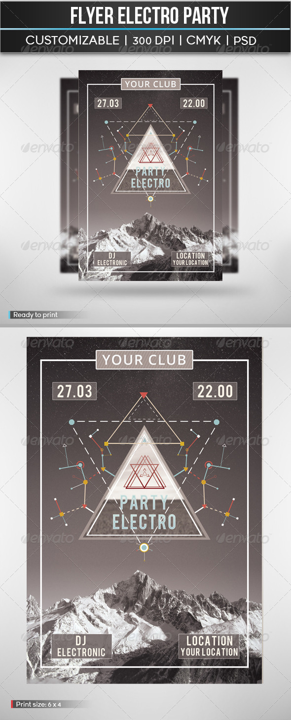 GraphicRiver Flyer Electro Party 4860828