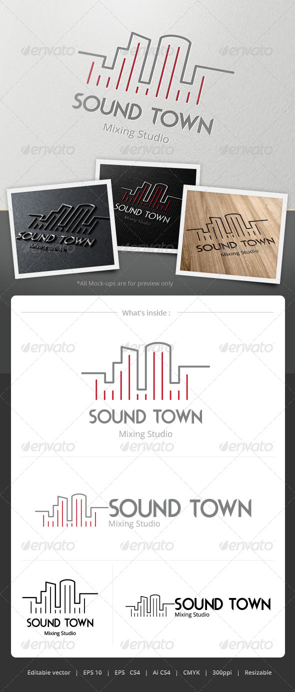 GraphicRiver Sound Town Logo 4860843