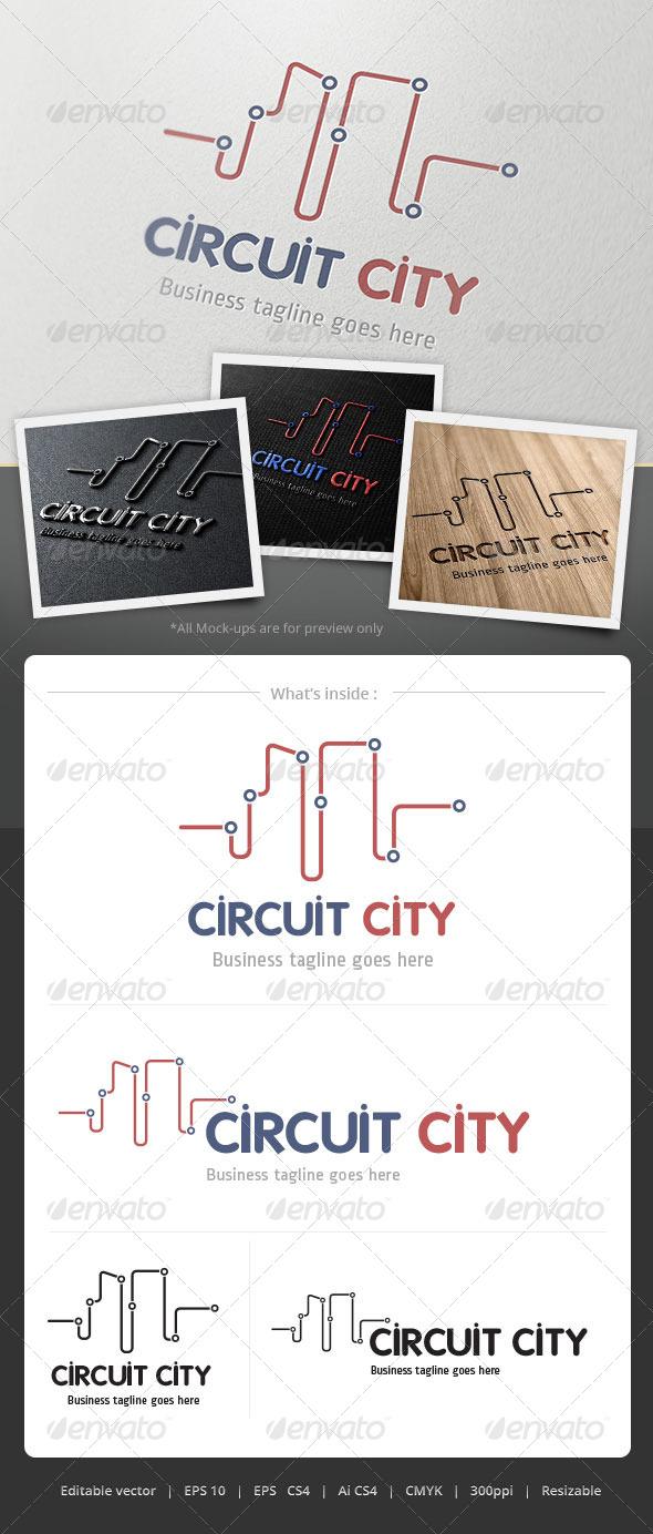 GraphicRiver Curcuit City Logo 4860859