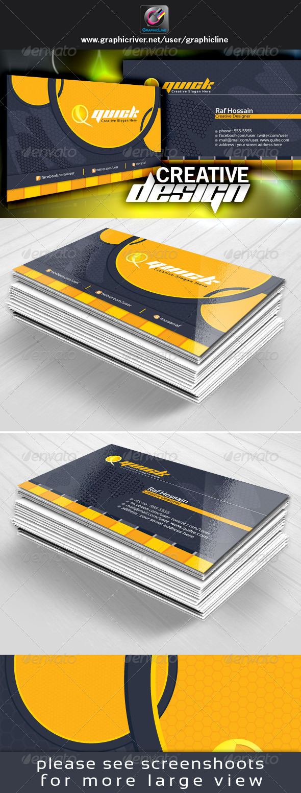GraphicRiver Quick Creative Business Card Design 4861080