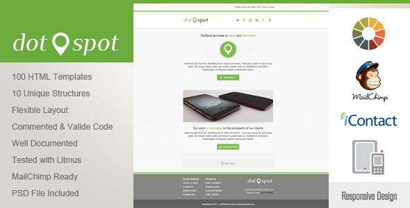 ThemeForest DotSpot Responsive Email Template 4861587