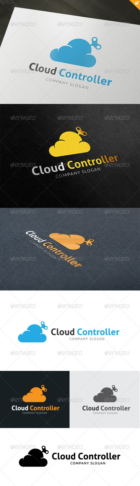 GraphicRiver Cloud Controller Logo 4861600