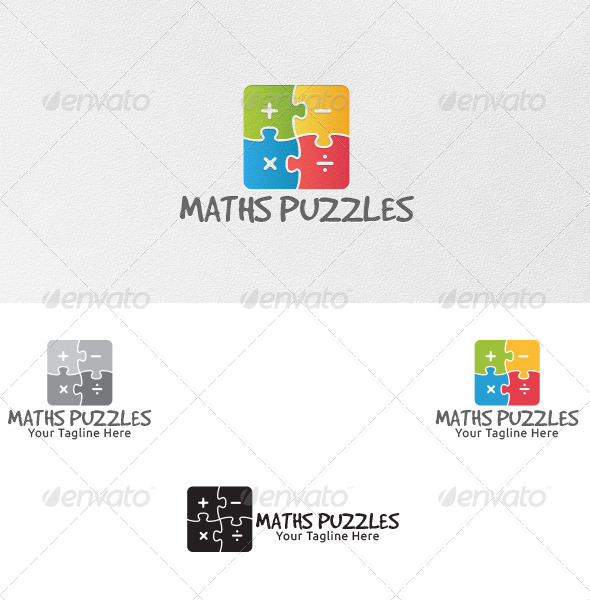 GraphicRiver Maths Puzzles Logo Template 4861660