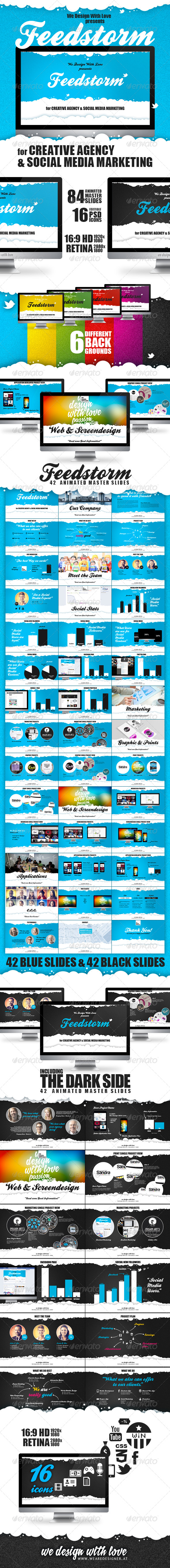 GraphicRiver FEEDSTORM 84 Pages Keynote Presentation 4861782