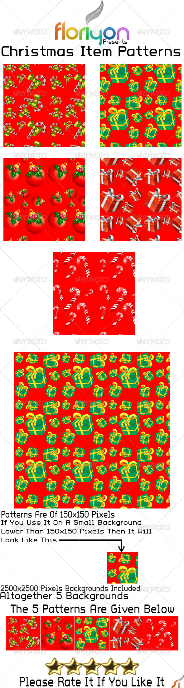 GraphicRiver Christmas Item Patterns 4862111