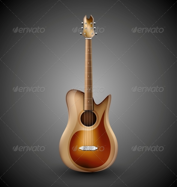 GraphicRiver Isolated Acoustic Guitar 4862382