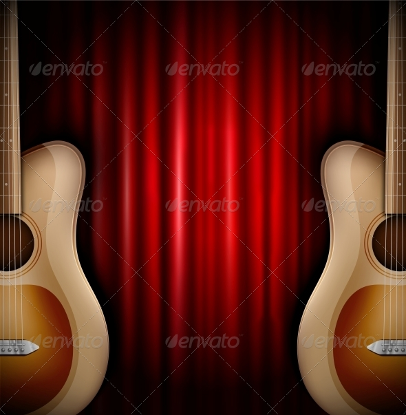 GraphicRiver Background with Acoustic Guitar 4862391