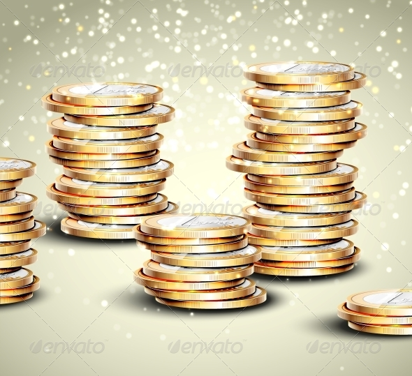 GraphicRiver Background with Coins 4862397