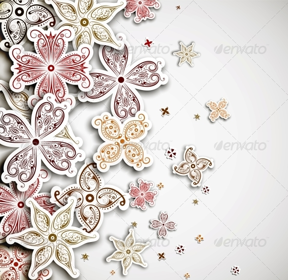 GraphicRiver Background with Flowers 4862400